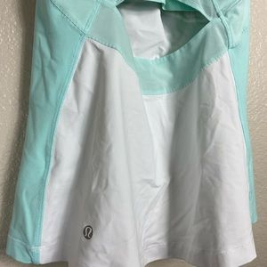 lululemon athletica Tops - Lululemon White and Baby Blue Tank with Bra Pads